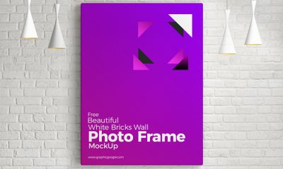 Free-Bricks-Wall-Frame-Mockup