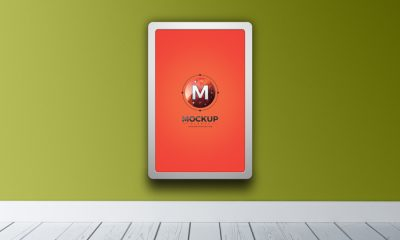 Free-Indoor-Vertical-Advertising-Billboard-Mockup-PSD-300