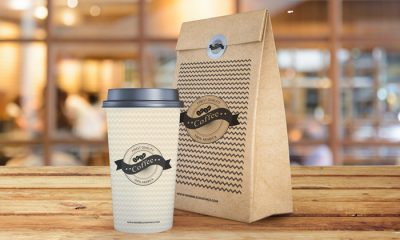 Coffee-Cup-With-Paper-Bag-Packaging-Mockup-PSD-Template