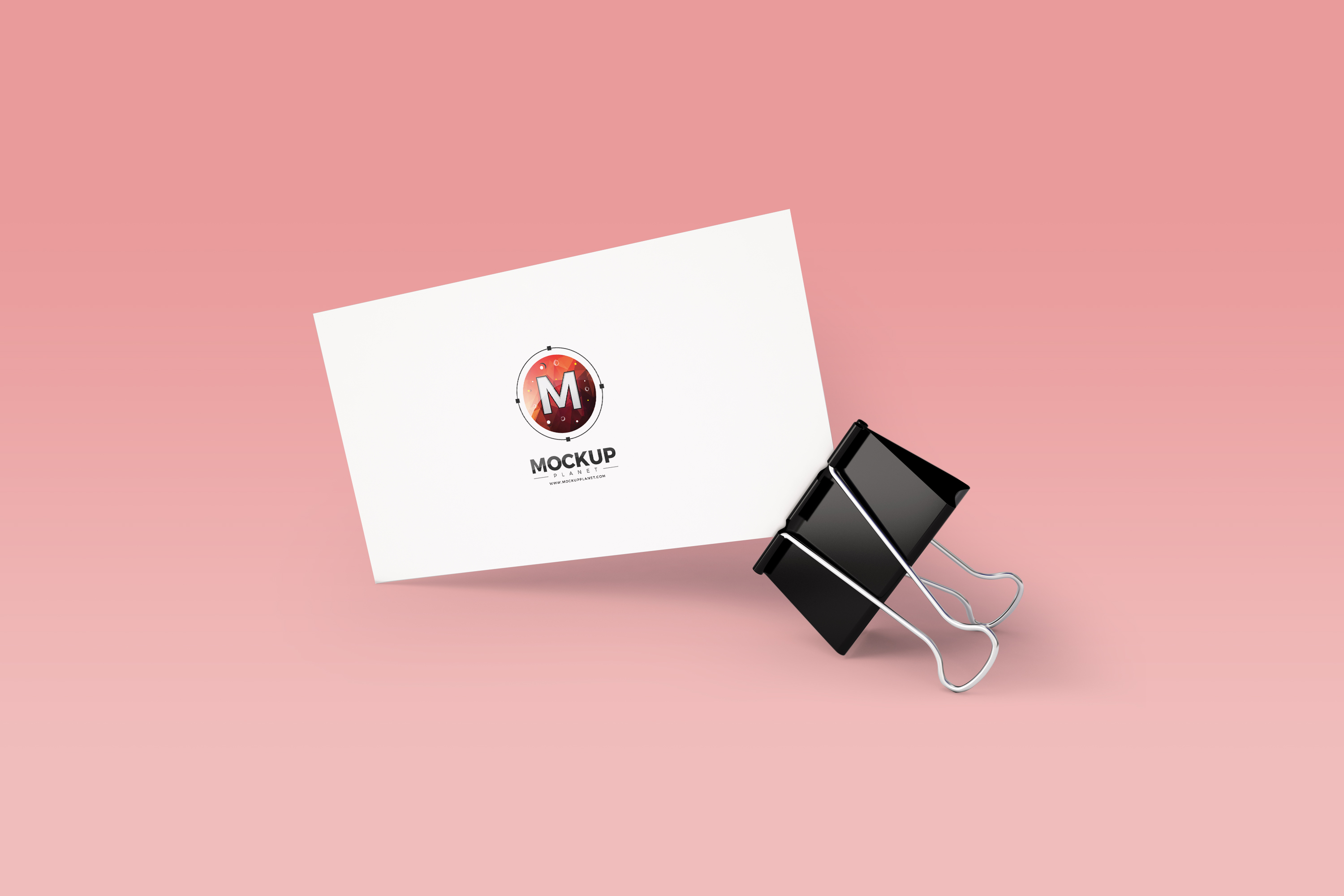 Business Card With Clip Mockup PSD Mockup Planet
