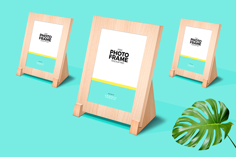 Free-Classy-Wooden-Stand-Photo-Frame-Mockup