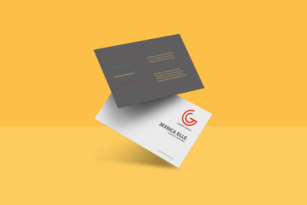 Floating business card psd mockup mockup planet free floating business card psd mockup reheart Gallery