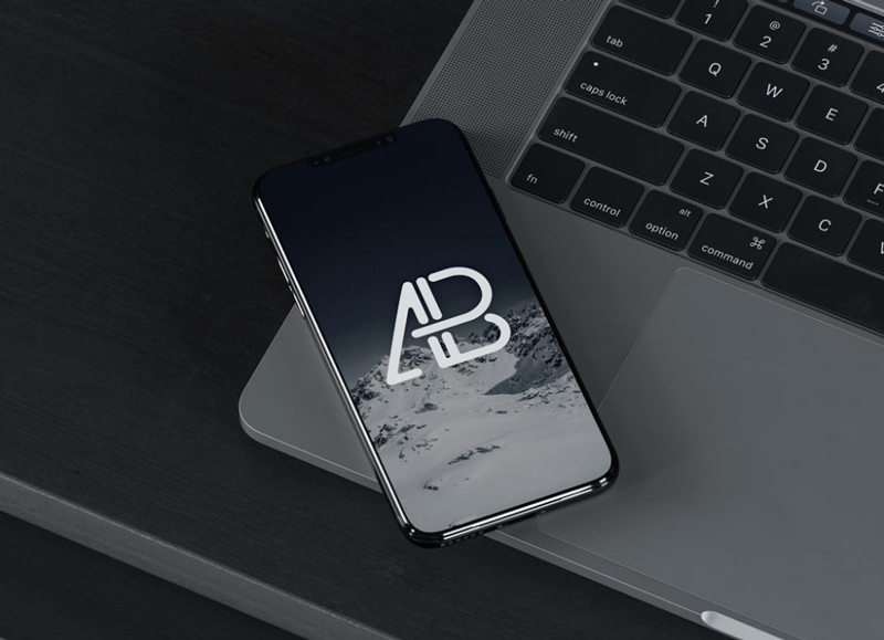 Free-iPhone-8-On-MacBook-Pro-Mockup-PSD