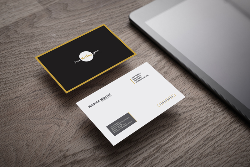 Executive-Business-Card-Mockup-on-Wooden-Table