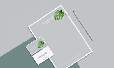 Letter-Head-and-Business-Card-Mockup