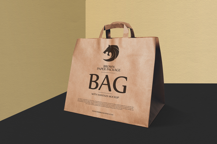 Brown-Paper-Package-Bag-With-Handles-Mockup