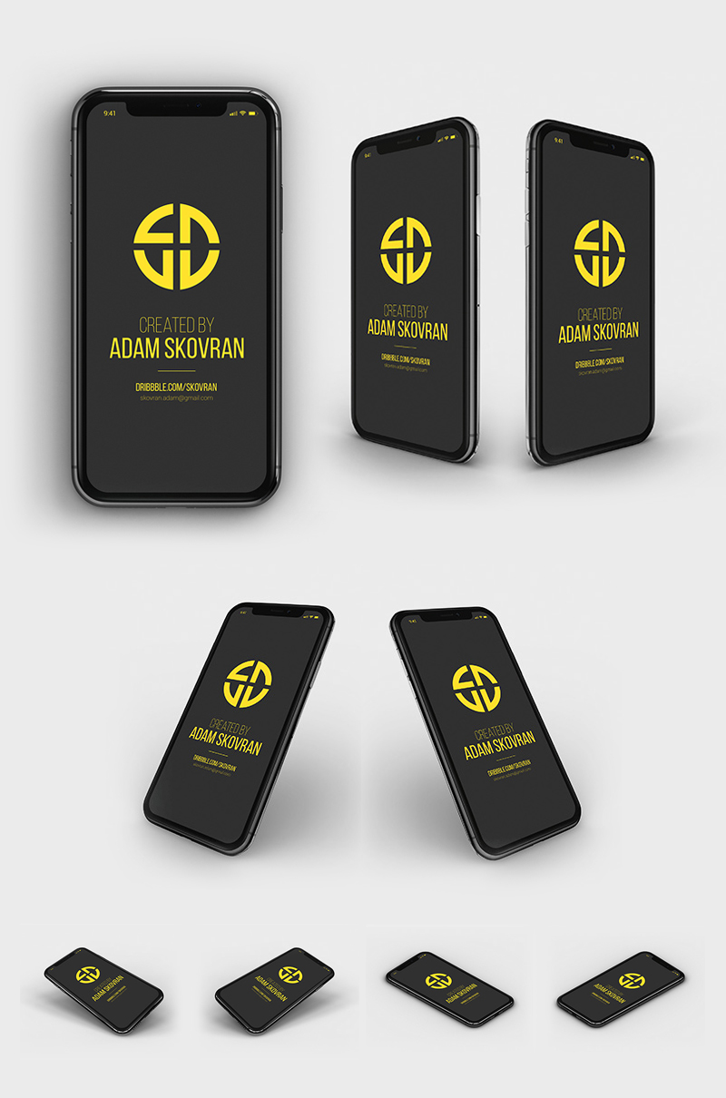 Free-iPhone-X-MockUps-Bundle-With-9-Different-Angles