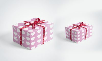 Gift-Box-with-Ribbons-Mockup