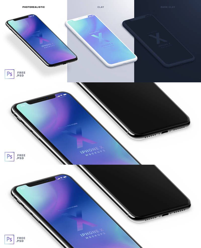 iPhone-X-Isometric-Mockups--Clay-Freebie