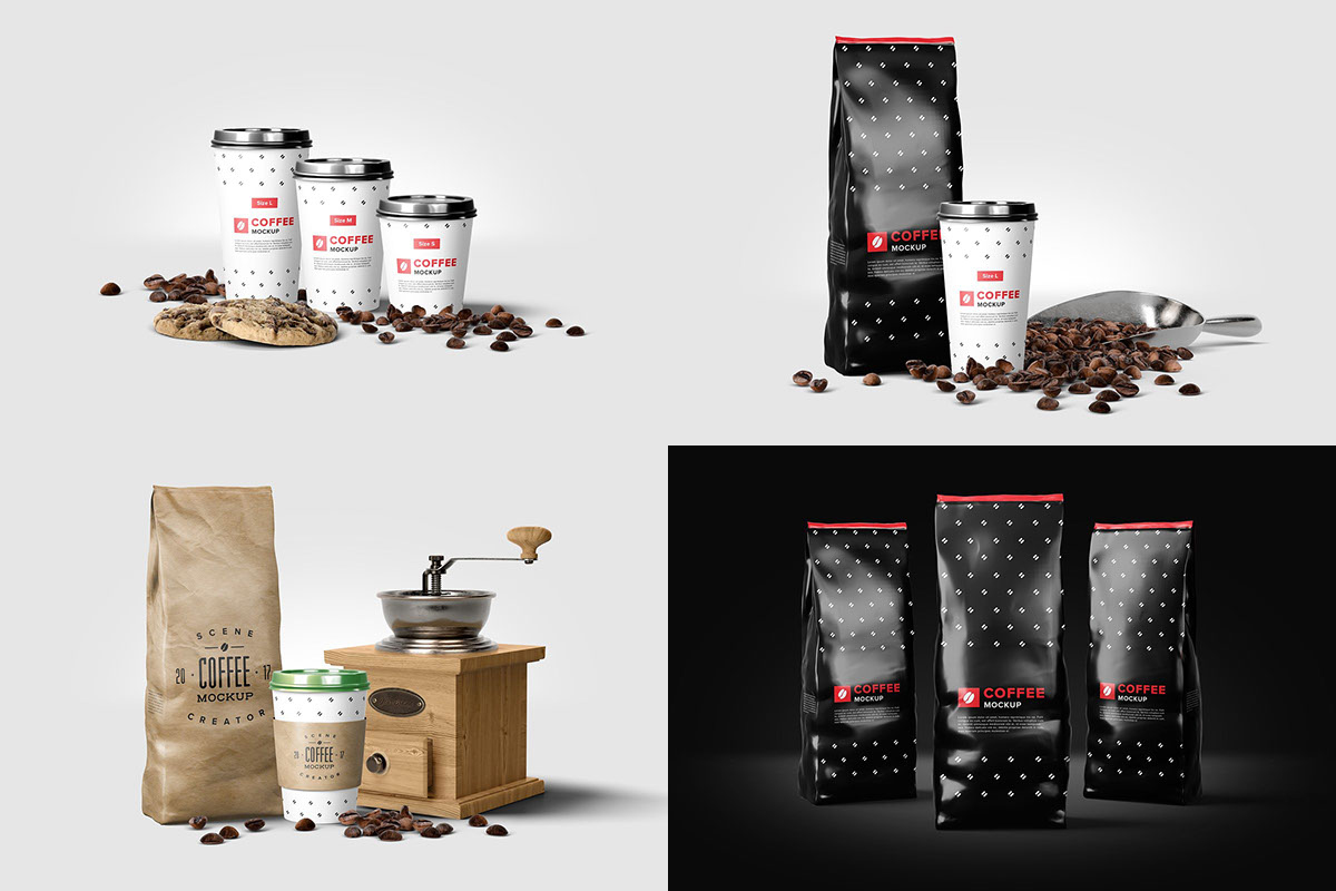 Free-Coffee-Mockup-Scene-Creator-14-Customizable-Elements-Preview-Image