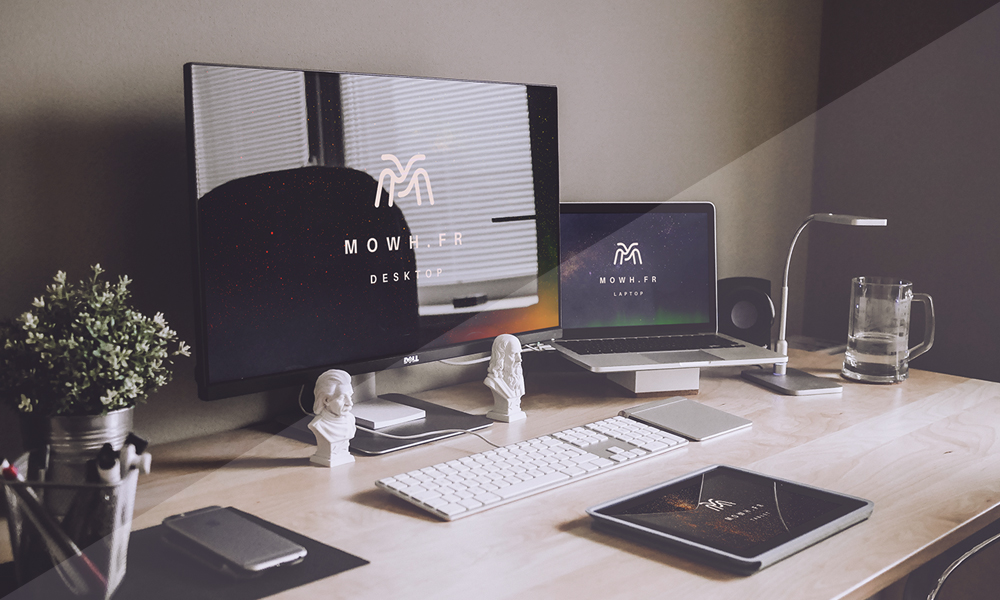 Free-Dell-Monitor,-Macbook-&-iPad-Devices-PSD-Mockups