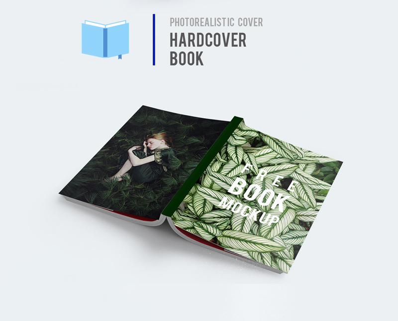 Photorealistic-Cover-Hardcover-Book-Mockup