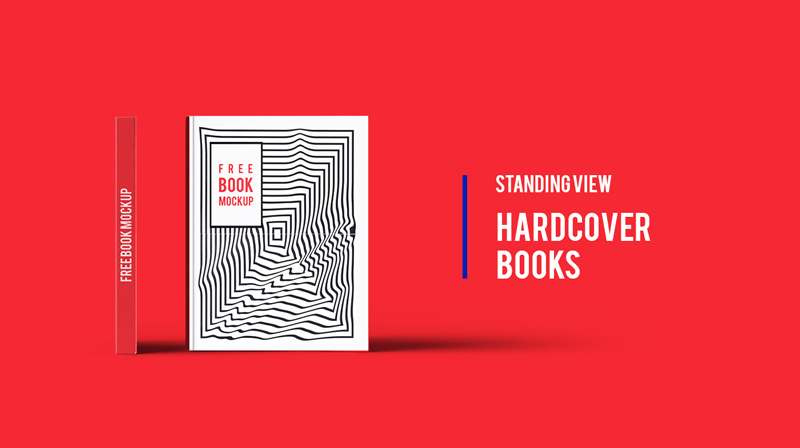 Standing-View-Hardcover-Book-Mockup