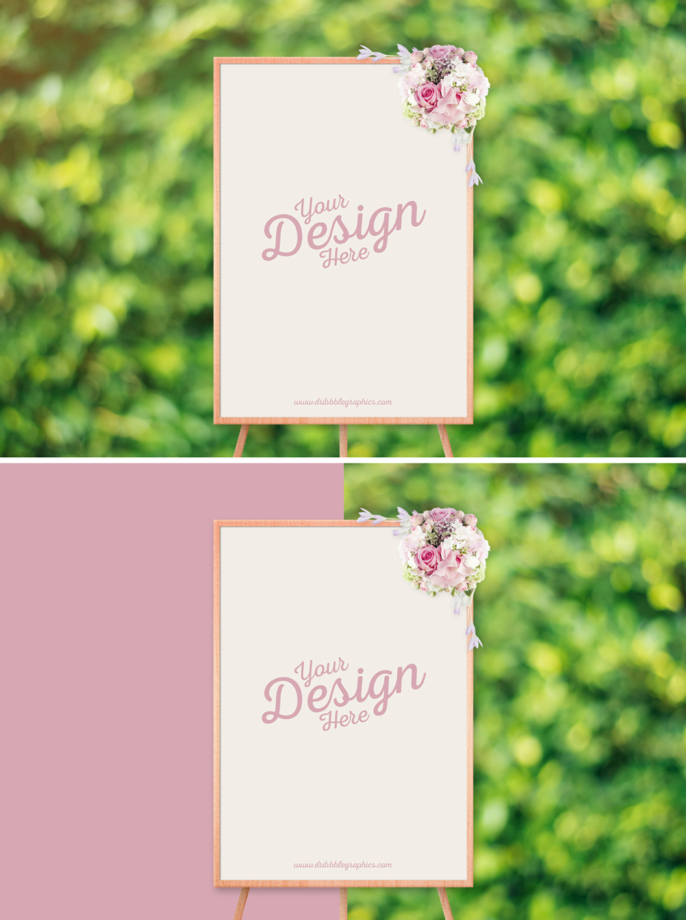 Free-Beautiful-Wedding-Ceremony-Frame-Stand-Mockup