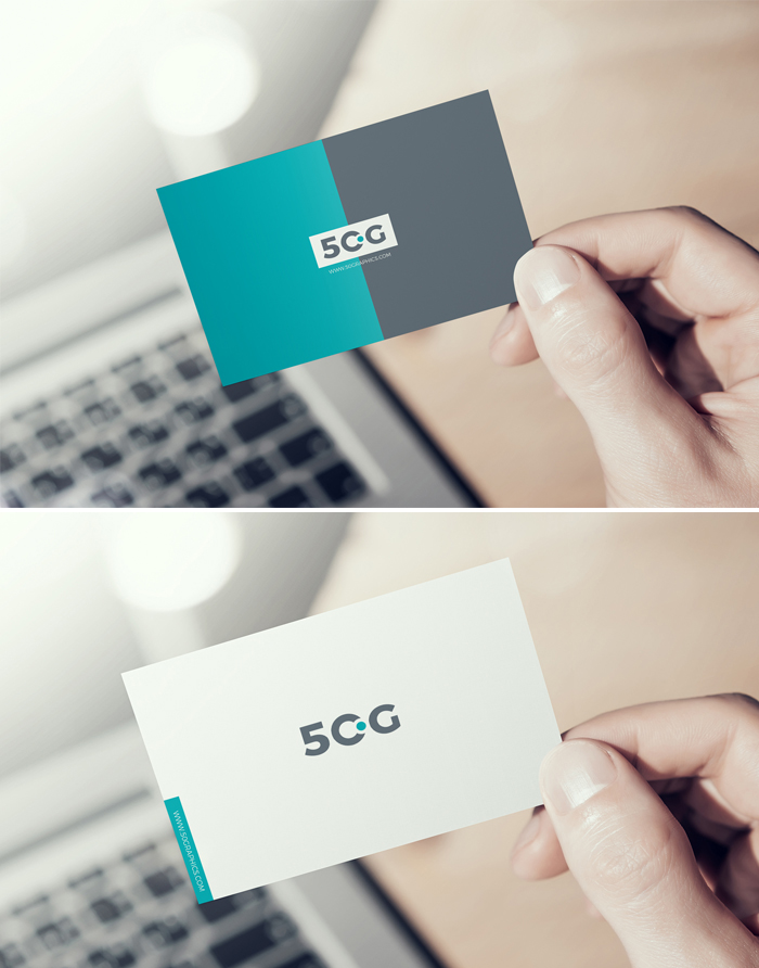 Free-Man-Showing-Business-Card-Mockup