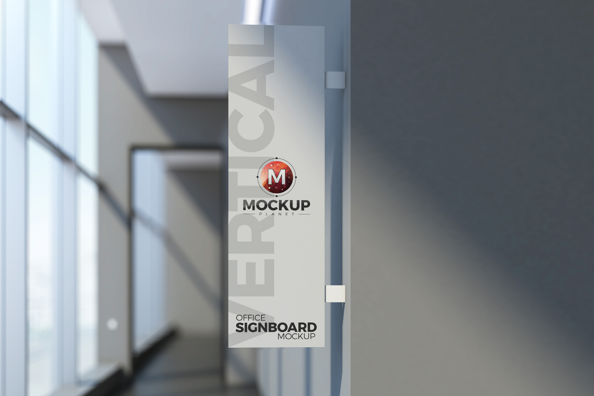 Free-Office-Vertical-Signboard-Mockup