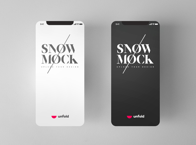 Free-Snow-iPhone-X-Mockups-with-3-Different-Perspective-1