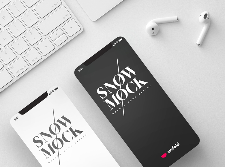 Free-Snow-iPhone-X-Mockups-with-3-Different-Perspective