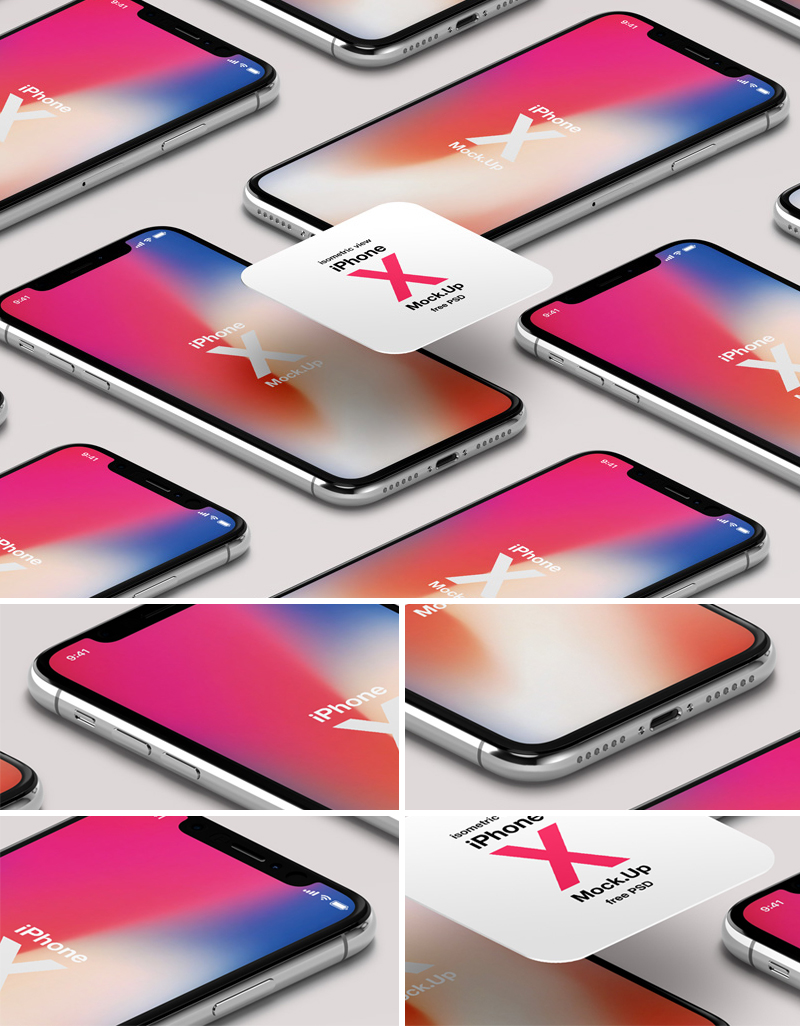 Free-Isometric-iPhone-X-Psd-Mockup