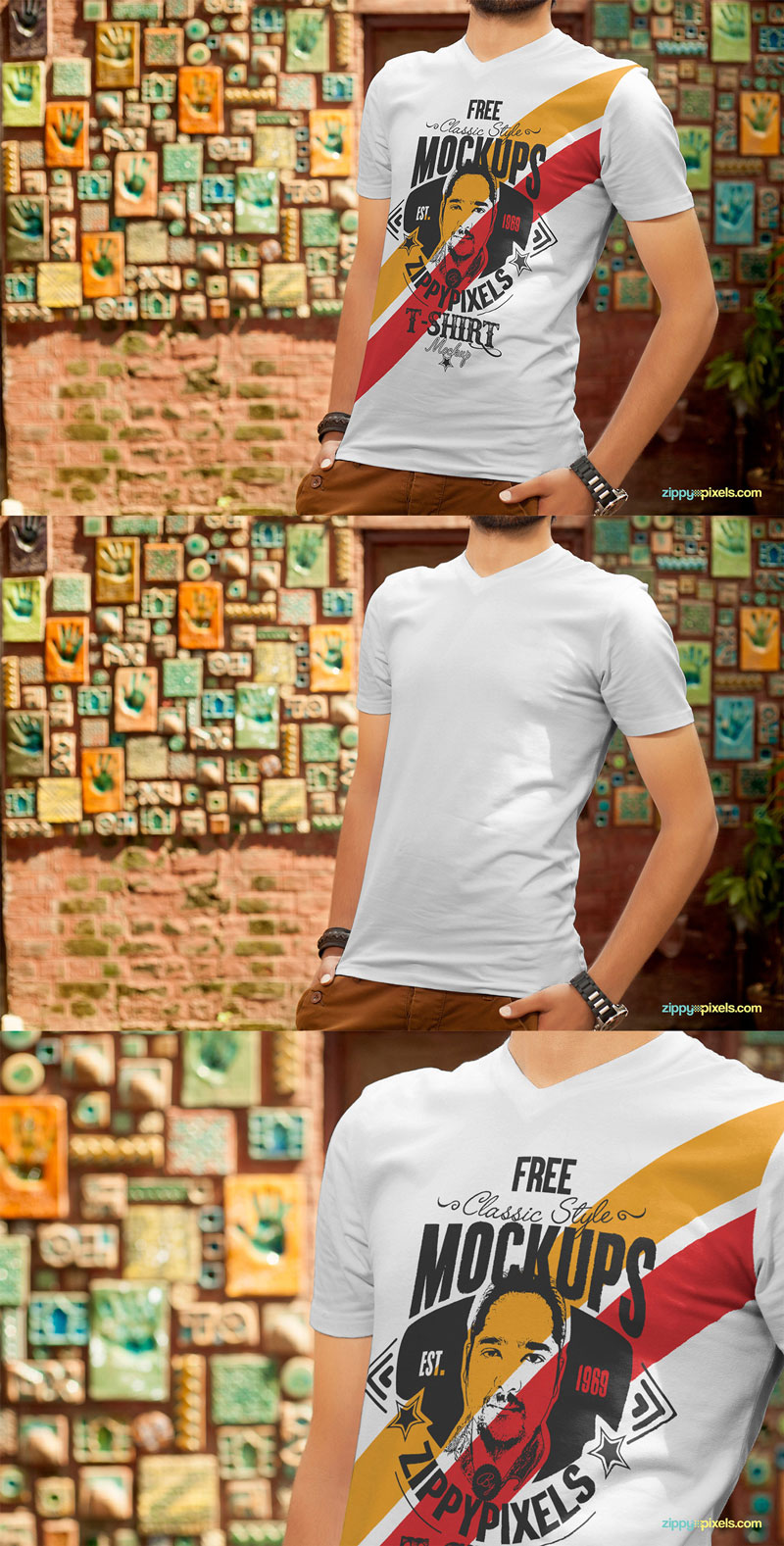Free-Handsome-Boy-Wearing-T-Shirt-PSD-Mockup-2018