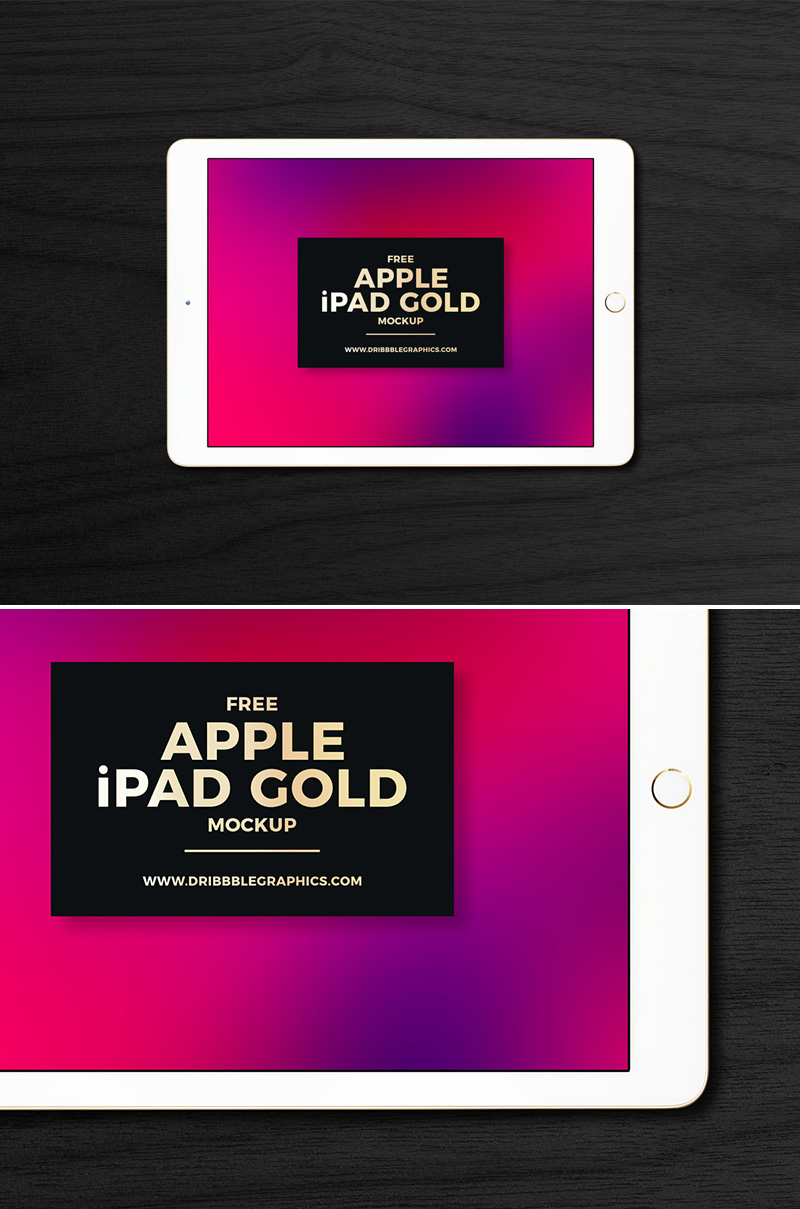 Free-PSD-Apple-iPad-Gold-Mockup-2018-For-Your-UI-Presentation