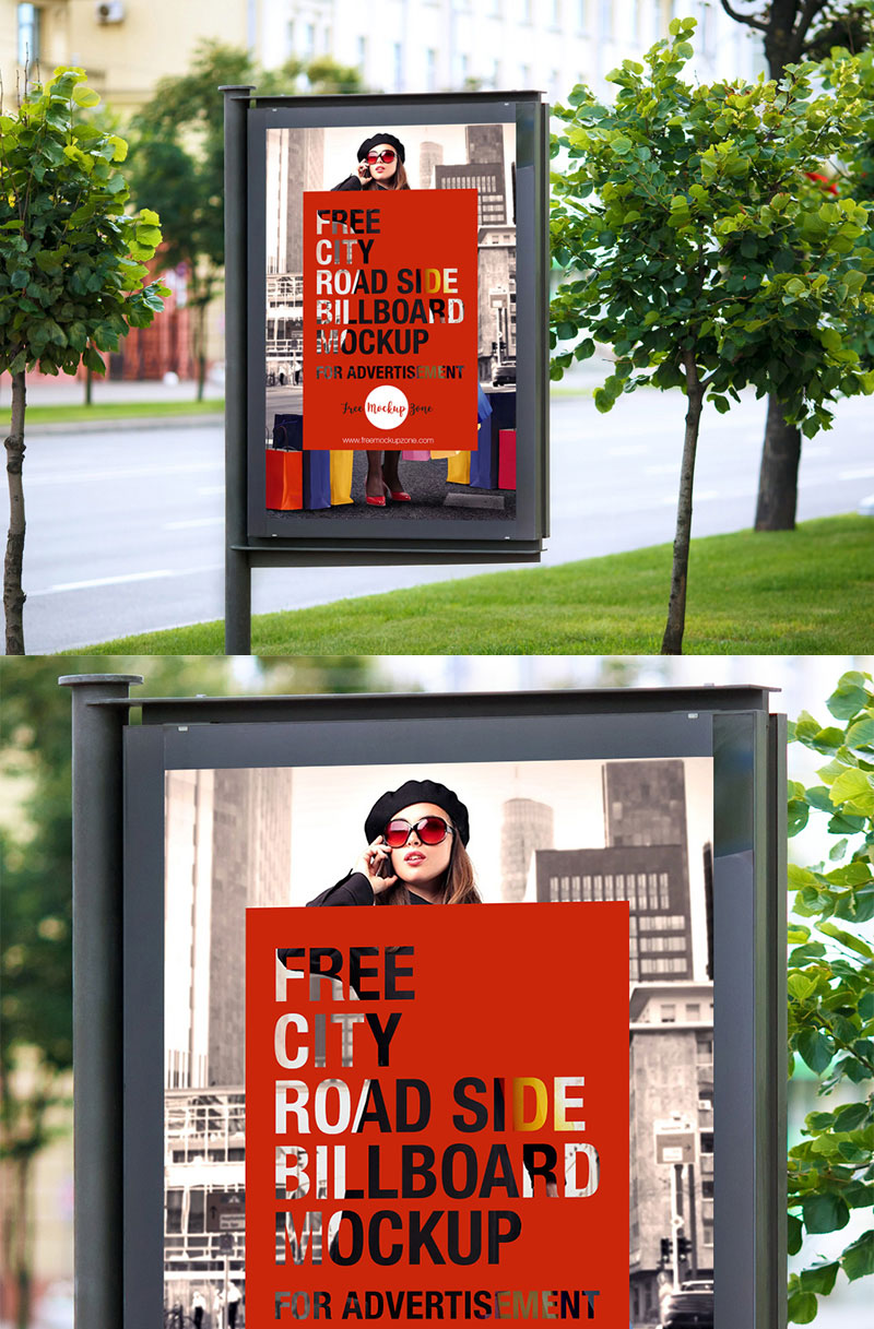 Free-Road-Side-Outdoor-Advertisement-Billboard-Mockup-For-Branding-2018