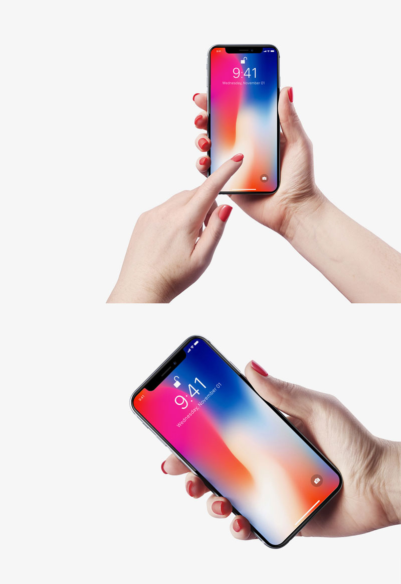 Free-2-iPhone-X-in-Female-Hand-Mockups-600