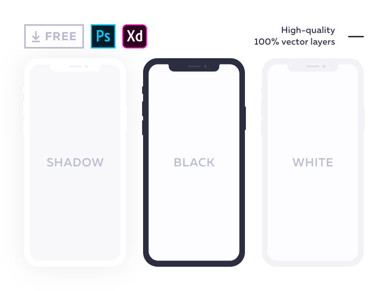 Free-Flat-Mockup-for-iPhone-X-600