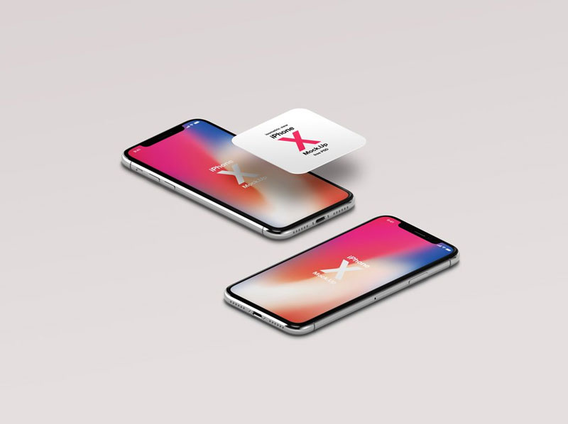Free-Isometric-View-iPhone-X-Mockup-600