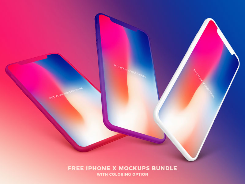 Free-iPhone-X-Mockups-Bundle-With-Coloring-Option-600