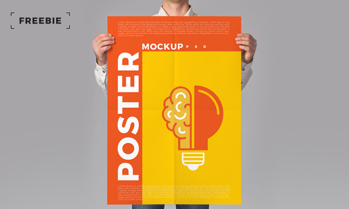 Free-Standing-Man-Holding-Poster-Mockup-PSD-2018-300