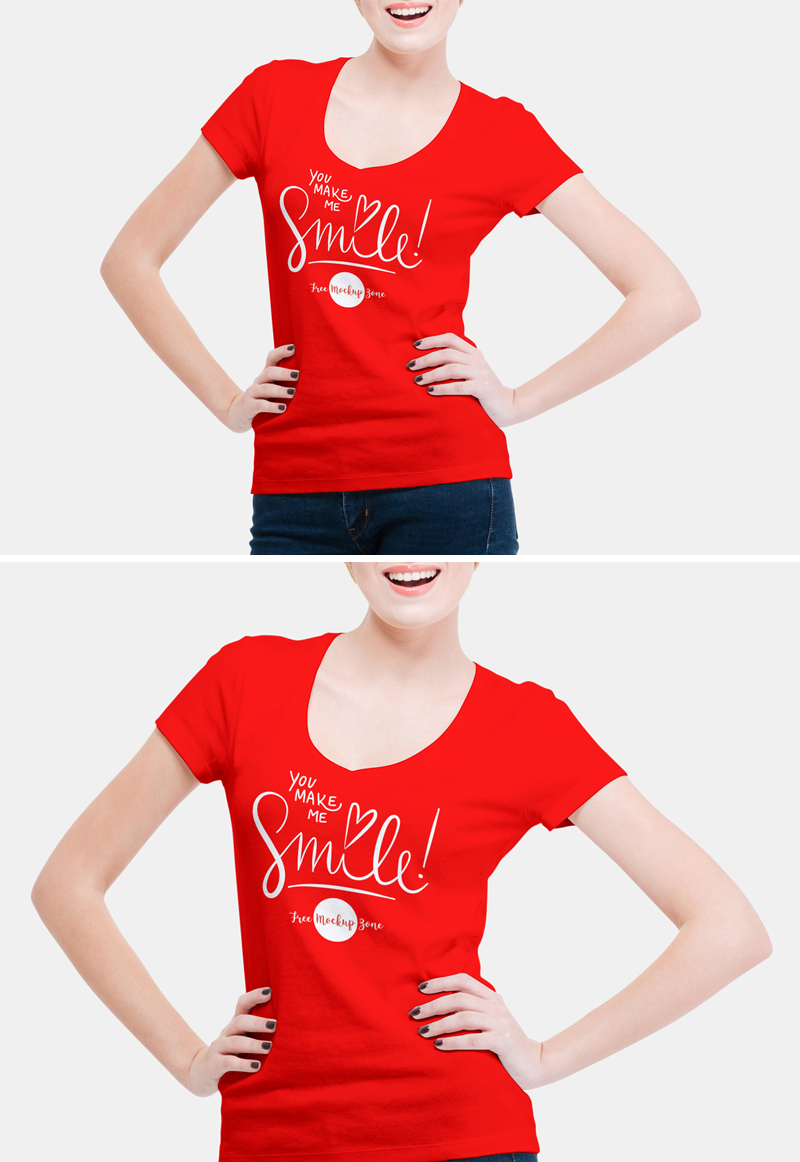 Free-V-Shape-Girl-T-Shirt-Mockup-PSD-For-Fashion-2018-1