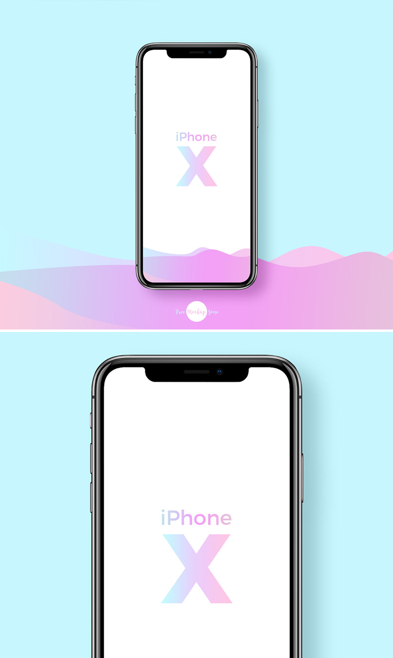 Free-Front-Screen-iPhone-X-Mockup-PSD-2018-700