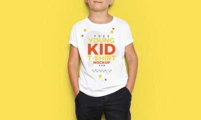 Free-Young-Kid-T-Shirt-Mock-Up-PSD-500