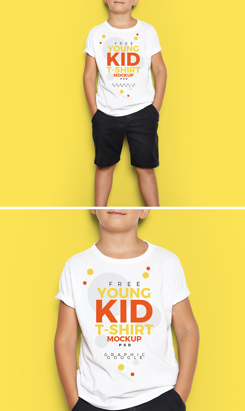Free-Young-Kid-T-Shirt-Mock-Up-PSD-700