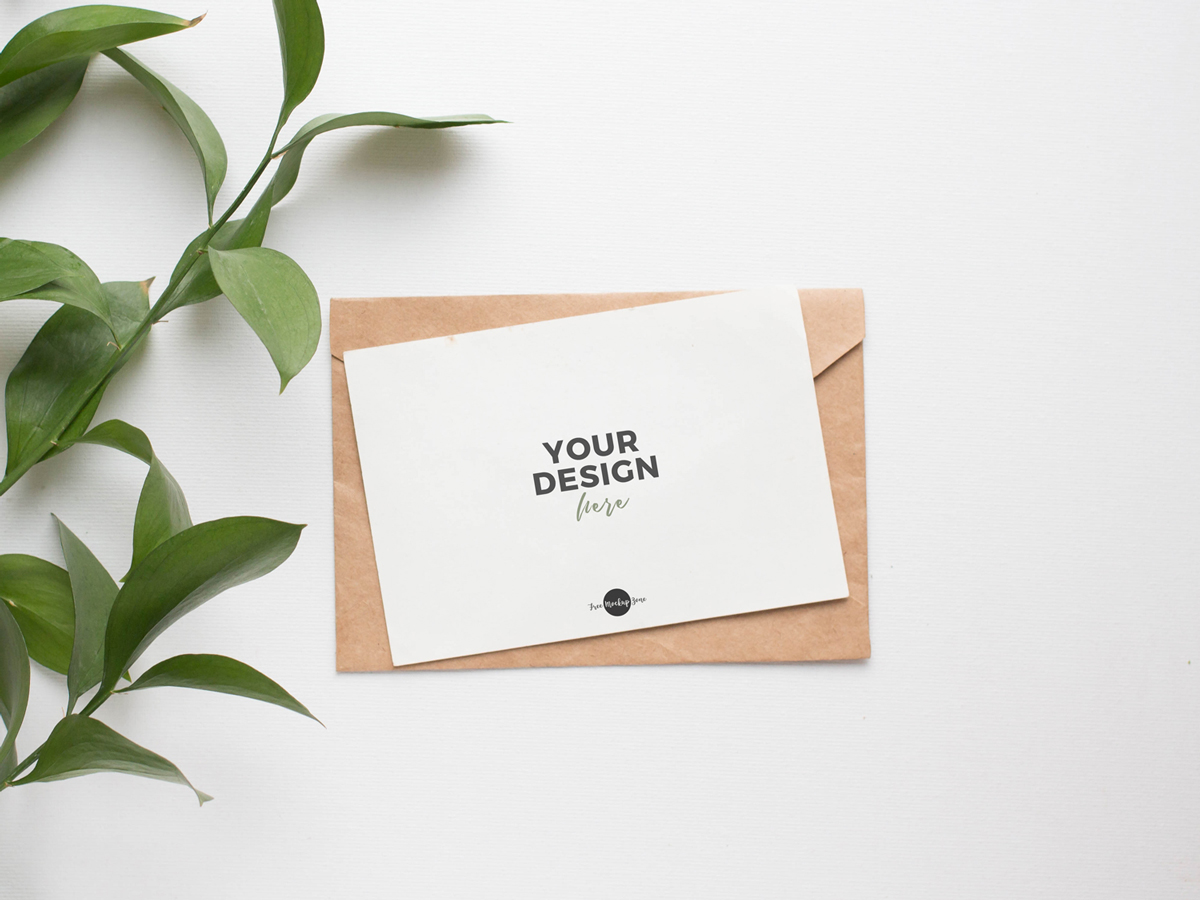 Free-Invitation-Card-with-Leaves-PSD-Mockup