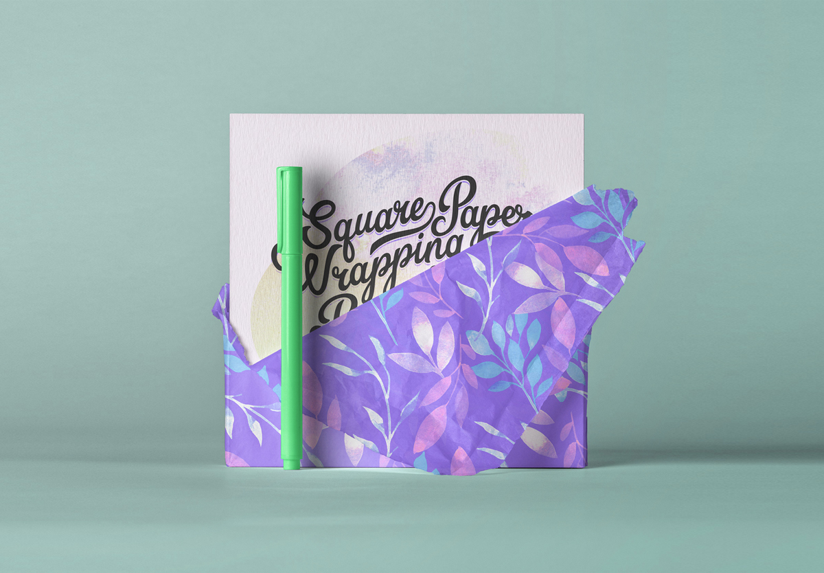 Free-Modern-Paper-Wrapped-Square-Greeting-Card-Mockup