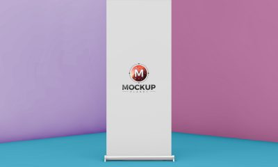 Free-Roll-Up-Mockup-PSD-For-Advertisement-2018