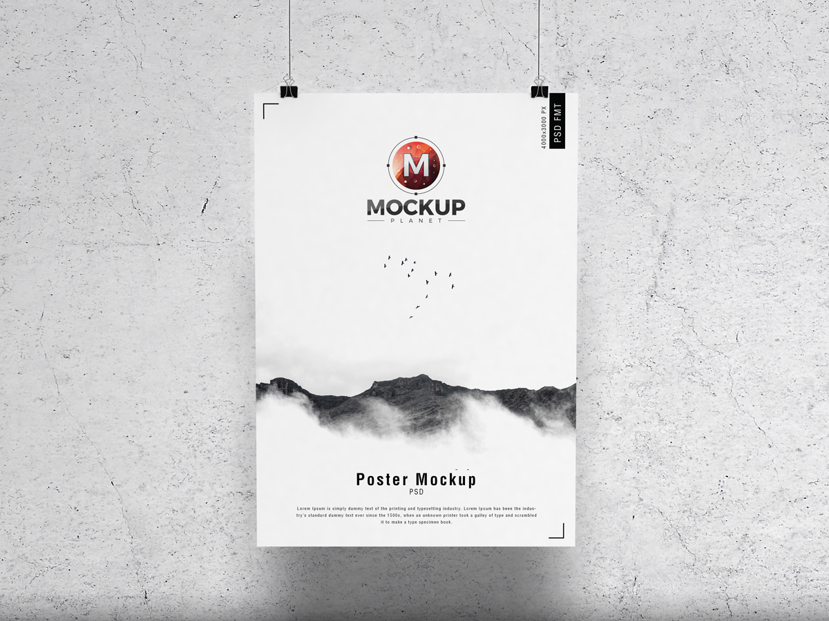 Free-Concrete-Wall-Hanging-Brand-Poster-Mockup-PSD