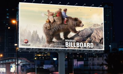 Free-Roadside-Outdoor-Advertisement-Billboard-Mockup-PSD-2019