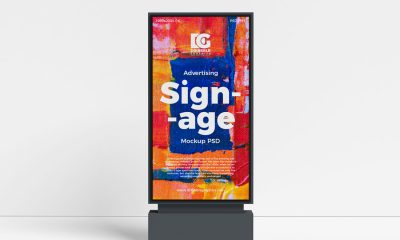 Free-Signage-Advertising-Stand-Mockup-Design-PSD-2019