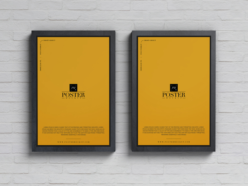 Free-Advertisement-Posters-Mockup-PSD-Template-For-Branding-2019