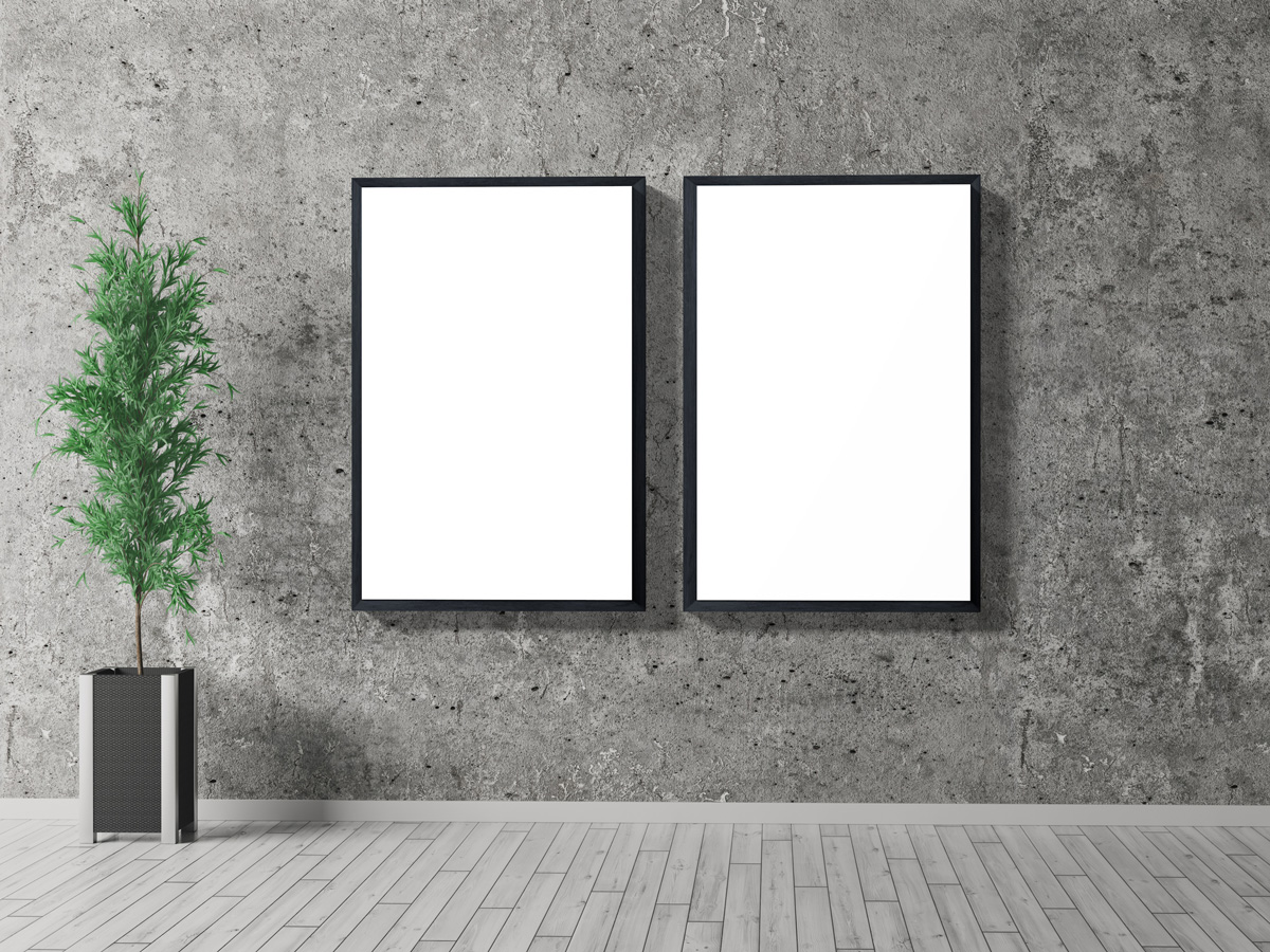 Free-Indoor-Frame-Poster-Mockup-PSD-For-Presentation-2019