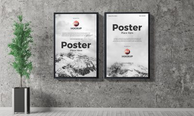 Free-Indoor-Frame-Poster-Mockup-PSD-For-Presentation