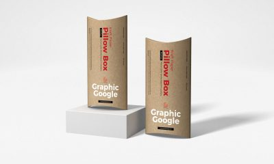Free-PSD-Kraft-Paper-Pillow-Box-Mockup-Design