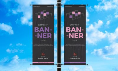 Free-Advertisement-Lamp-Post-Banner-Mockup-Design