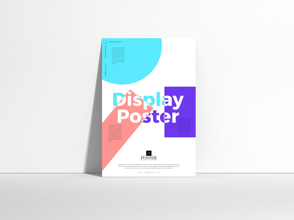 Free-Display-Poster-Mockup-Design