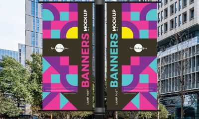 Free-Outdoor-Lamp-Post-Banners-Mockup-Design
