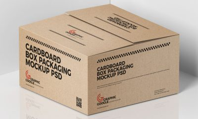 Free-Cardboard-Cargo-Box-Mockup-Design-For-Packaging