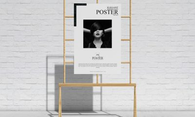 Free-Elegant-Wooden-Stand-Display-Poster-Mockup-Design